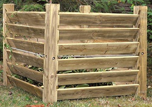 Komposter Stabil aus Holz 100 x 100 x 80 cm - ca. 800 Liter