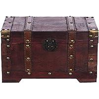 Preisvergleich für Generic * E Chest STO Chic Holztruhe S Box Nautische Schatztruhe Schatztruhe Aufbewahrungsbox Ochse Nautische Dekoration Oration Kleid Metall als Dekoration