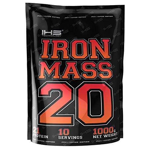 Iron Horse Gainer Iron Mass Paquete de 1 x 1000g Ganancia de Masa Carbohidratos Con Vitaminas y Aminoácidos (Milk Chocolate)