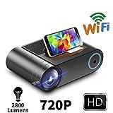 JLCN HD 720P Video proyector for 1080P WiFi Multi-Pantalla 3D Mini proyector VGA HDMI AV Proyector