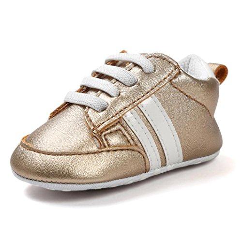 MEIbaxa Turnschuhe Babyschuhe,Neugeborenen Leder T-Strap Schuhe Sportschuh,Jungen Lauflernschuhe Mädchen Krippeschuhe Krabbelschuhe,Streifen-beiläufige Wanderschuhe