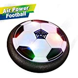 Joy-Jam Hover Soccer Ball Air Football Soccer Disc Kids Toys Foam Bumpers for Indoors & Outdoors Christmas Birthday Gifts JJ-UK-XFZQ Black