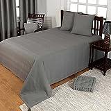 Homescapes Jeté de lit ou Jeté de canapé - Gris vert 230x260cm – Collection Rajput 100% Coton