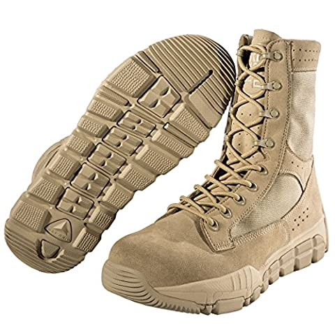 FREE SOLDIER Men's Military Patrol Work Hiking Boots Tactical Stellar Shoes Leather Desert Combat Boots (Sandy UK7)