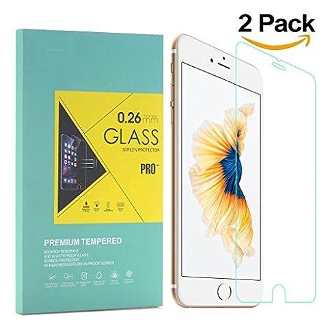 2 Pack iPhone 6 plus / 6s plus Panzerglas Schutzfolie Premium Bildschirmschutz aus gehärtetem Glas für iPhone 6 plus iPhone 6s plus ( 5,5Zoll (Glas Iphone)