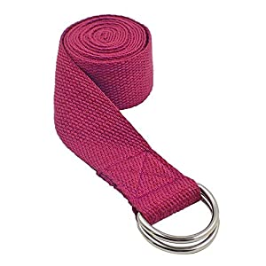 Dosige Verstellbare Yoga-Gürtel Fitness-Training Strap Gürtel D-Ring Yogagurt Strap Yoga Stretching Gürtel Yoga Gurt Sport Yoga Stretch Strap 185 * 4 cm(L*B)