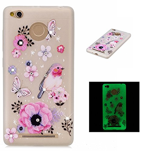 51urtVyLwVL. SS500  - Xiaomi Redmi 3S Bling Rhinestones Luminous Case ,BONROY® Creative Unique Design Fluorescent Green Effect Night Glow In The Dark ,Soft TPU Cover Ultra Thin Anti-Scratch Shock Protective Back Case Cover Shell for Xiaomi Redmi 3S