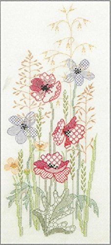 Derwentwater Designs Carte de v/œux Motif marguerites et Papillon kit de broderie au point de croix