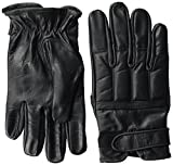 Security Quarzsandhandschuhe aus echtem Leder Farbe Schwarz Größe L
