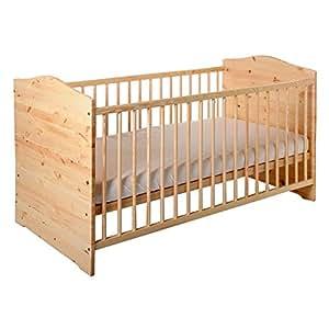 Kinderbett, Babybett, Bett, Jugendbett,140x70 cm, umbaubar, Babyblume KUBA, Kiefer, inkl. Matratze Dreamer Plus