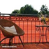 Videx PE-Balkon Bespannung Classic, 90 x 300cm, terracottta