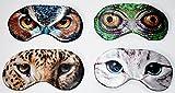 4x Schlafmaske Augenmaske mit Elastikband angenehmer Tragekomfort Tier Motiv
