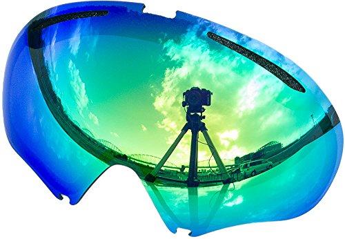 Lentes de repuesto para Oakley A FRAME2.0gafas para la nieve, Green Mirror