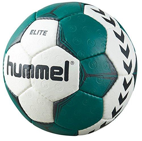 Hummel Handball für Spiel & Training - Größe 2 oder 3 - SMU ELITE HB - Harz Trainingsball Weiß wahlweise mit Blau, Grün oder Rot - Ball mit Air-Trap-Ventil, White/Green, 2