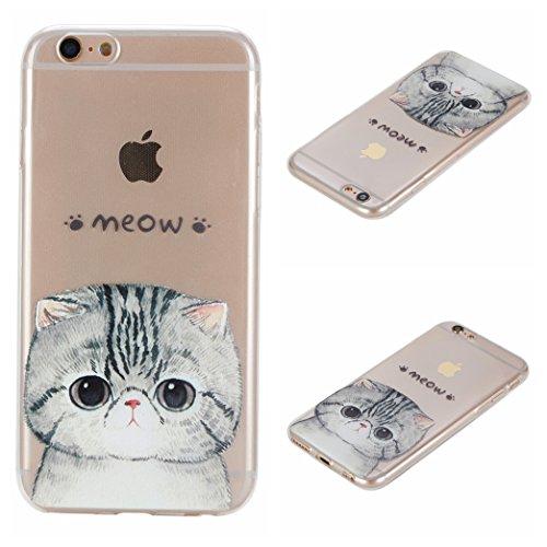Voguecase® Per Apple iPhone 6/6S 4.7, Custodia Silicone Morbido Flessibile TPU Custodia Case Cover Protettivo Skin Caso (unicorno 02) Con Stilo Penna carino gattino