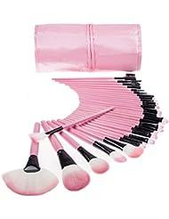 Keral 32 Stücke Make Up Pinsel set mac profi Kosmetik Make-up Pinsel mit Halter Tasche Pink