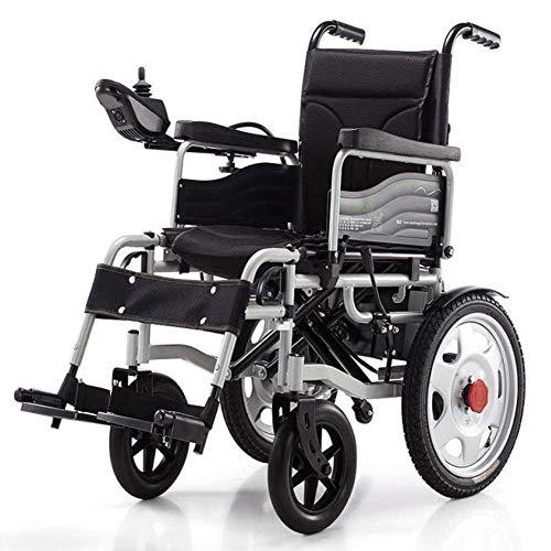 Sedia a rotelle elettrica, sedia a rotelle elettrica pieghevole Powerchair intelligente Super Endurance Più sicura sedia a rotelle per anziani F dg/Schwarz