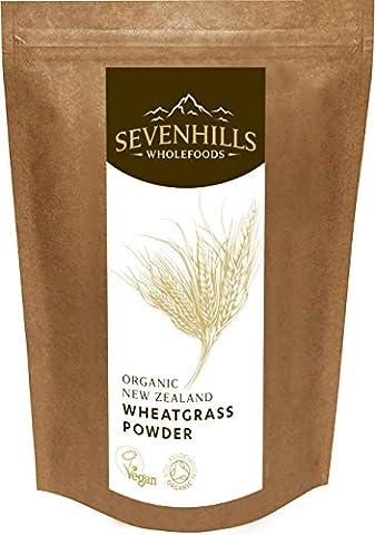 Sevenhills Wholefoods Neuseeland-Weizengras-Pulver Bio 250g (Mangan 250 Tabletten)