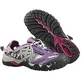 AHELMET Neutral wasserdichte Schuhe Wandern Outdoor Klettern Sandalen Sport Laufen Waten Schuhe Schuhe (Farbe : Purple, größe : 40EU)
