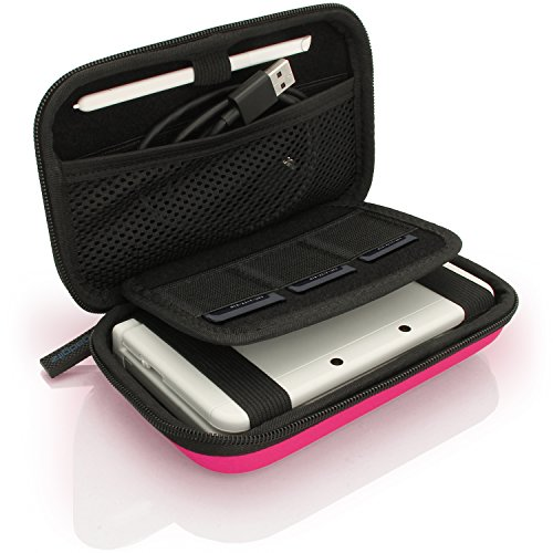 iGadgitz U3607 - Eva Hart Schutzhülle Kompatibel mit Nintendo 3DS (Nicht FÜR 3DS XL) - Pink - Travel Ds Kit Nintendo