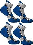 normani 4 Paar Running Sport Sneaker Funktionssocken mit Frotteesohle verstärkt Farbe Cobald Größe 35/38