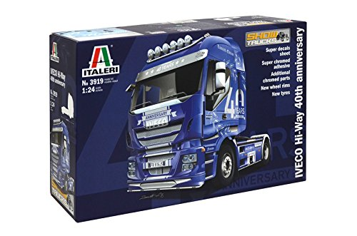Italeri 3919 - iveco hi-way 40th annivers. showtrucks model kit  scala 1:24