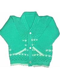 RK SWEATERS Baby Woollen Main Sweater (Peach_0-6 Months)