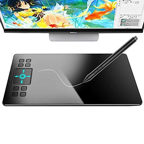 EJOYDUTY Tablette de Dessin Graphique numérique 10x6 Pouces, Tableau électronique avec Dessin Peint à la Main avec Un Stylo sans Pile, Smart Gesture Touch, 8 Touches de Raccourci