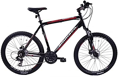 "Ammaco Alpine Comp 21 Speed Mens Alloy Mountain Bike With Disc Brakes 26"" Wheel Extra Large 23"" Frame For Tall Men Black"