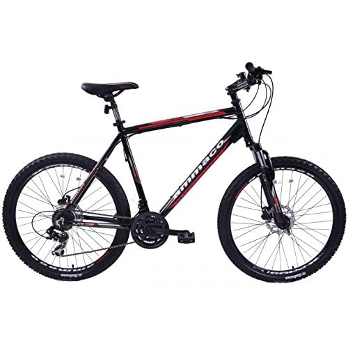 """51us%2BxNDy7L. SS500  - AMMACO ALPINE COMP 21 SPEED MENS ALLOY MOUNTAIN BIKE WITH DISC BRAKES 26"""" WHEEL EXTRA LARGE 23"""" FRAME FOR TALL MEN BLACK"""