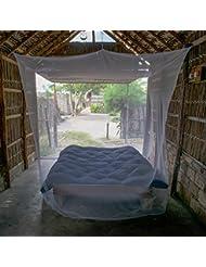 HAWK Outdoors XXL Travel Moskito-Netz in Kastenform für Doppelbetten und Einzel-Bett - feinmaschig, groß und leicht für Reise oder Pavillon - 2 plus Personen - 220x200x220 - mit Aufhängungs-Set – 240 MESH