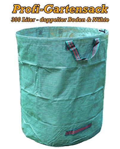 Sacco fogliame XXL, 300 L, qualità professionale con cuciture manico rinforzate, stabile, antistrappo per trasportare o compostare i rifiuti del giardino.