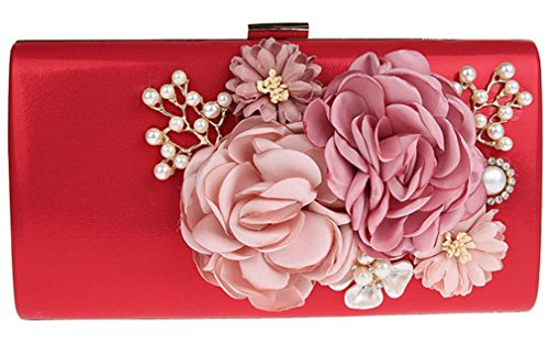 Belsen , Damen Clutch rot rot Medium Rot