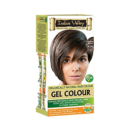 Indus Valley Permanent Herbal Hair Colour-Medium Brown Kit