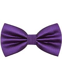 Alizeal Mens Solid Color Wedding Party Pre-tied Bow Tie