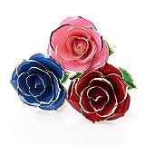 L'oro Baby Pig belle rose 24K placcato Regali di San Valentino fiori di rosa con regalo scatola di sudore per Amore eterno e amico di compleanno Madre Richiesta di Nozze Love Gift