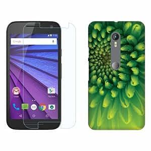 Printland Tempered Glass + Back Cover Combo For Motorola Moto G (3rd Gen)