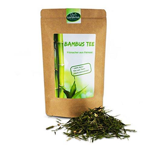 Bambustee 100g loser Kräutertee ohne Teein und Koffein - sanaviva Detox Tee aus Deutschland frei von künstlichen Zusatzstoffen
