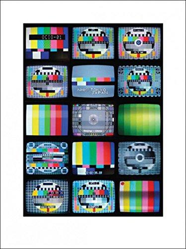 1art1 83815 Fernseh-Testbilder - Fernseh-Testbilder aus Aller Welt, Troy Litten Poster Kunstdruck 80 x 60 cm