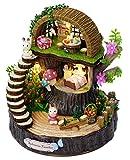 DIY Holz Puppenhaus Handwerk Miniatur Kit - Waldhütte Modell &