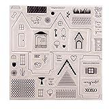 Qiman Transparent Klar Stempel Silikon Scrapbooking Fotoalbum DIY Handwerk Geschenk