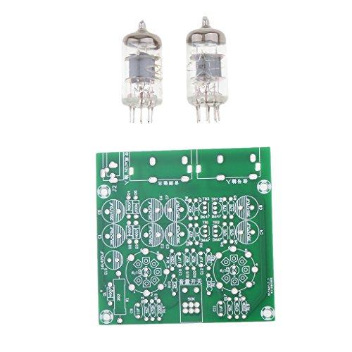 MagiDeal 6J1 Ventil PreAmplifier Rohrplatine Kopfhörer Verstärker Board DIY Kit -Grün (Ventil-kopfhörer-verstärker)