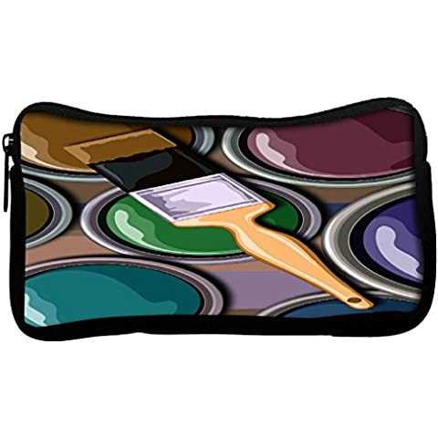 Snoogg olio Painter 2452 in tela Student-Penna con astuccio con portamonete, multiuso per trucco