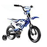 Meacoll 12'' 16'' Children Kids Motorbike Ride On Bicycle Bike Stabilizers 4 Wheels