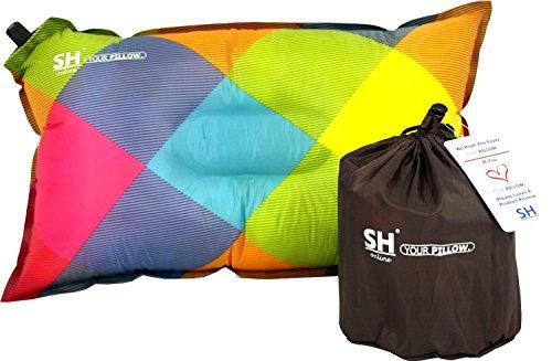 YOUR-Pillow-Von-SHO--Das-Ultimative-Selbstaufblasende-Reisekissen-Fr-Reise-Camping-Und-Festivals--Lebenslange-Garantie-Mehrfarbig