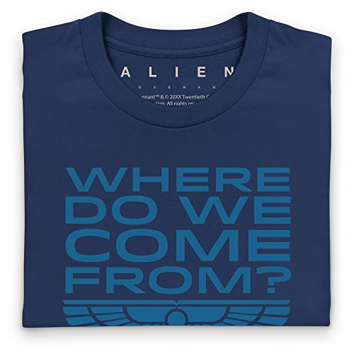 Official Alien: Covenant Where Do We Come From Langarmshirt, Herren Dunkelblau