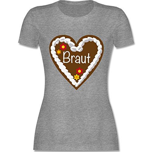 jga-junggesellinnenabschied-lebkuchenherz-braut-xl-grau-meliert-l191-tailliertes-premium-t-shirt-mit