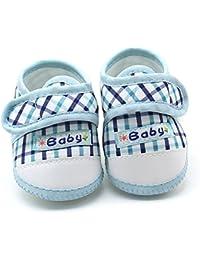Zapatillas Bebe niña LANSKIRT Zapatos de Fondo Suave Zapato de Deporte a Cuadros para Bebe niño