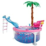 Mattel W3159 - Barbie Glam Pool, Zubehör