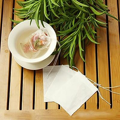 vide papier sachets de thavec du papier filtrant 100pcs herbes Courroie sachets de th jetables 5x 6cm Infuseur th Passoire